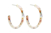Marbled Acrylic Oval Hoops