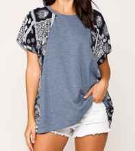 Printed Dolman Sleeve Tunic Knit Top