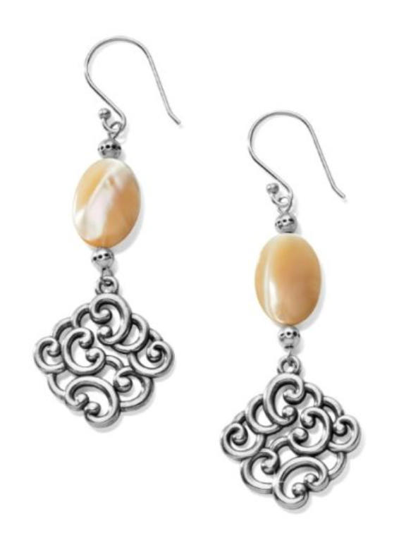 Barbados Nuvola Shell French Wire Earrings - Brighton