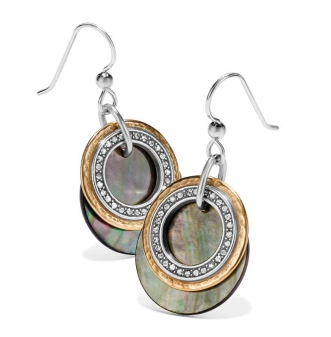 Neptune's Rings Shell French Wire Earrings - Brighton
