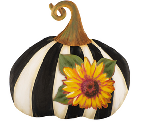 Short Striped Pumpkin W/ Sunflower