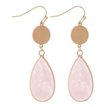 Semi Precious Teardrop Earrings