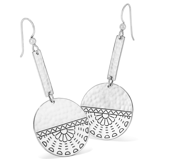 Marrakesh Mystique Disc French Wire Earrings - Brighton