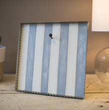 GRAY & WHITE STRIPED MINI GALLERY DISPLAY - The Roundtop Collection