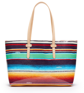 Deanna Canvas Stripe Breezy East West Tote - Consuela