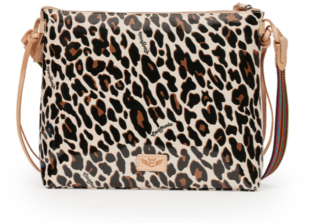 Mona Brown Leopard Downtown Crossbody - Consuela