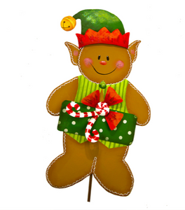 ELF HAT GINGERBREAD MAN - The Roundtop Collection