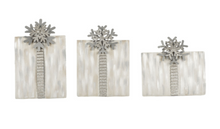 GLITTERED SNOWFLAKE PRESENTS Set of 3 - The Roundtop Collection