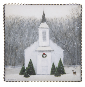 WINTRY CHURCH PRINT - The Roundtop Collection