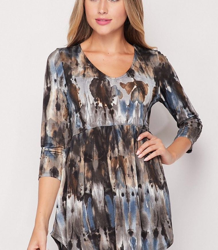 Abstract Babydoll Top