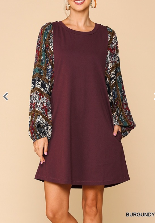 Fall Fling Dolman Sleeve Dress