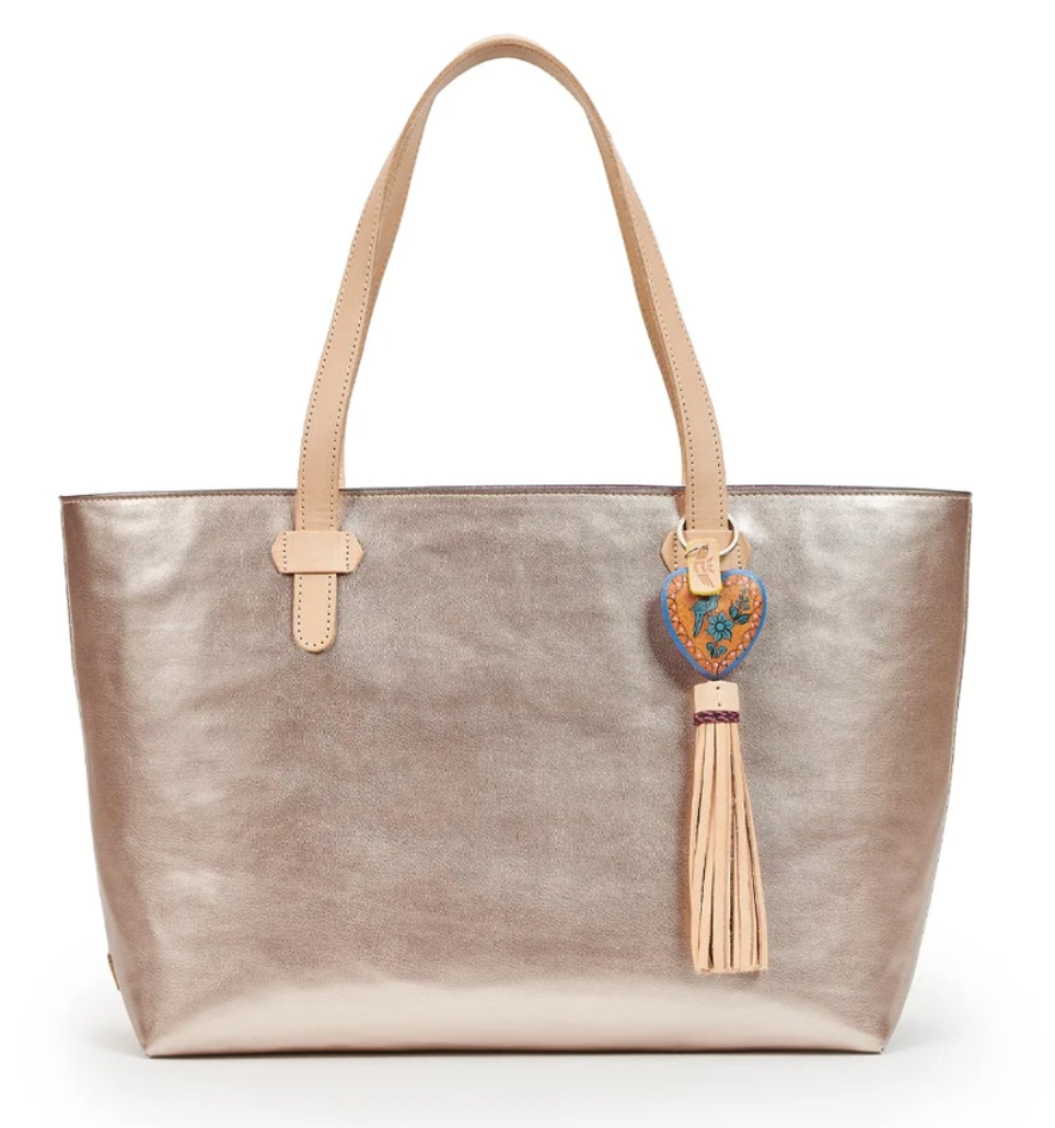 ROSE BIG BREEZY EAST/WEST TOTE-Consuela