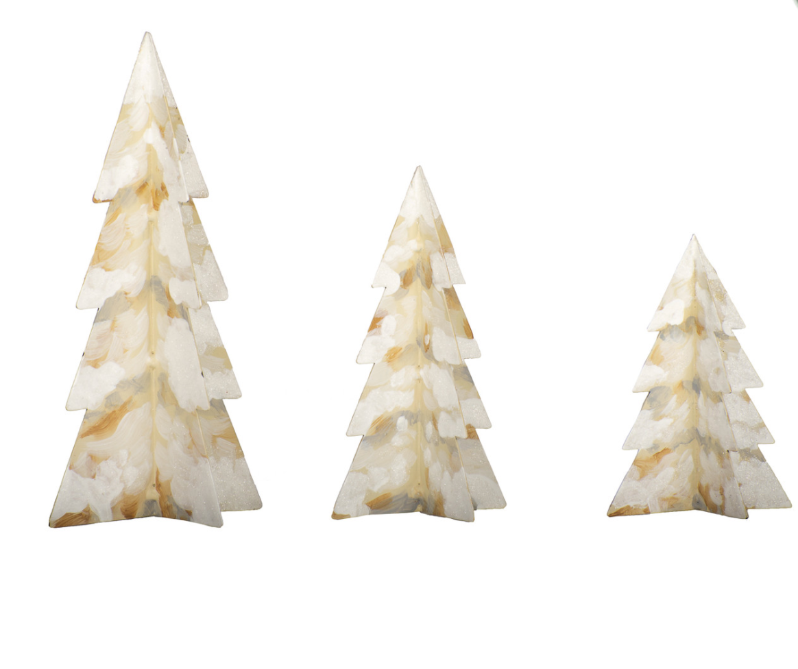 White Christmas Village Trees-The RoundTop Collection
