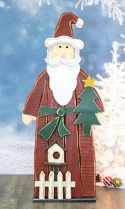 PICKET FENCE SANTA STANDER