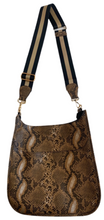 AHDORNED - Faux Python Messenger w/Adjustable Stripe Strap