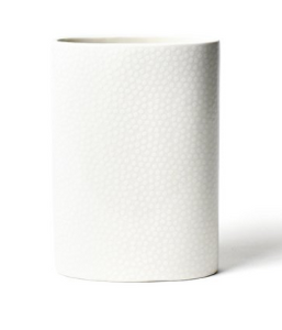 White Small Dot Mini Oval Vase