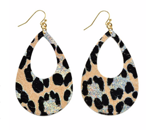 Metallic Leopard Earrings