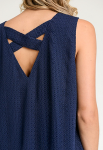 Knit Tank with Back Criss Cross