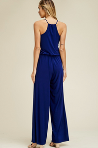 Loose Fit Straight Leg Jumpsuit with Pockets