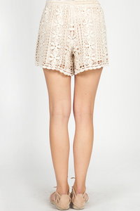 LACE TULIP SILHOUETTE SHORTS