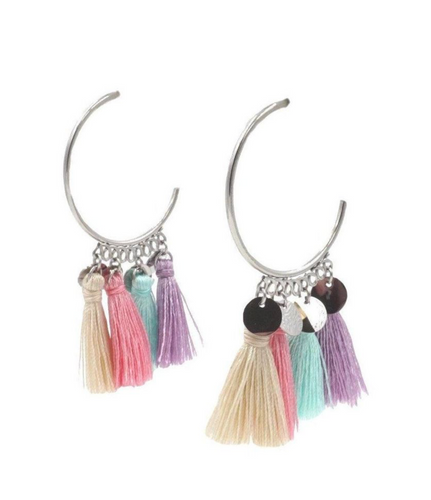 TASSEL COLLECTION - SILVER CHIKA EARRINGS