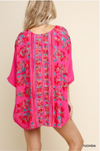 Multicolored Floral Embroidered Scoop Neck Top