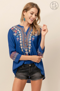 Floral Embroidered Blouse