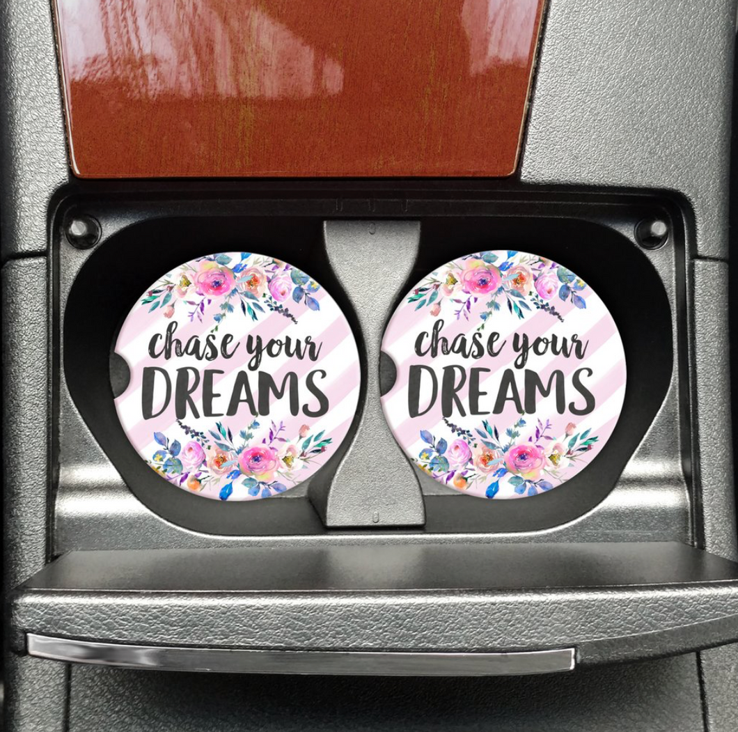 Chase Your Dreams Coasters On The Go