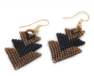 Brown and Black Arrow Earrings