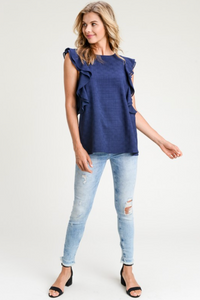 DOUBLE RUFFLED TOP