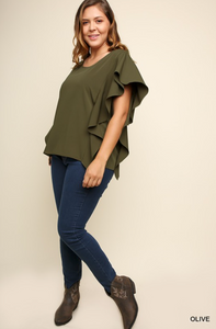 Ruffle Short Sleeve Top