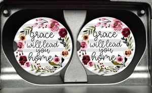 Grace Will Lead You Home Car Coasters