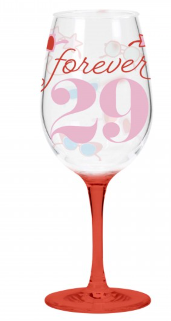 Forever 29 Wine Glass