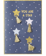 Shooting Star Paper Clip Gift Card