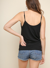 Basic Tank Top with Adjustable Strap and Knot in Front