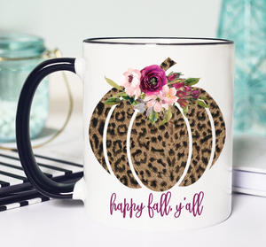 Happy Fall Y'all Mug