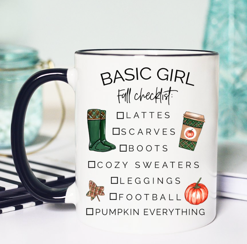 Basic Girl List Mug