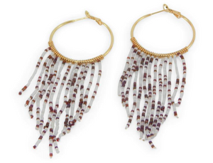Erimish Gameday Hoop with Dazzled String Earrings