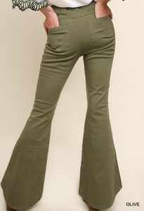 High Wasted Stretch Flare Bottom Pants