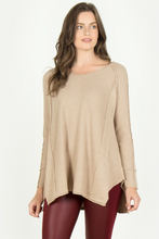 Long Sleeve Inside Out Seam Sweater