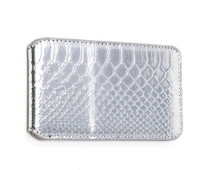 Faux Snakeskin Cell Phone Wallet