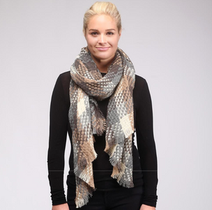 Knit Plaid Scarf