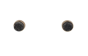 BLACK ICE STUD EARRINGS - REGAL COLLECTION