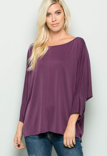 CUPRO DEEP SCOOP NECK TOP