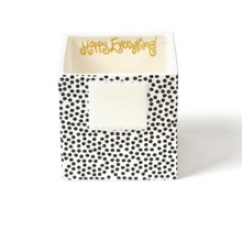 Black Small Dot Small Mini Nesting Cube - Happy Everything