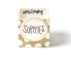 Neutral Dot Small Mini Nesting Cube - Happy Everything