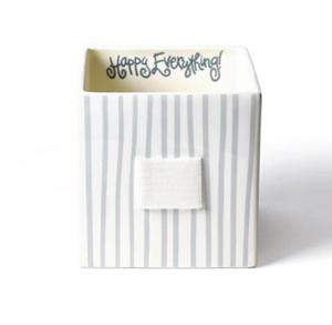 Stone Stripe Mini Nesting Cube Medium - Happy Everything