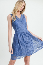 ALL OVER LACE FIT & FLARE DRESS