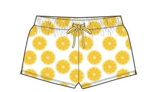Lemon Basic Drawstring Shorts - Tween