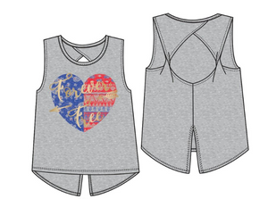 Forever Free Heart Tie Twisted Tank - Tween